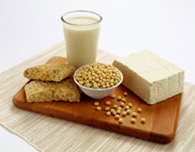 Milk, bread, nuts and cheese