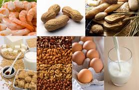 Various foods known for allergic/intolerant reaction in some people